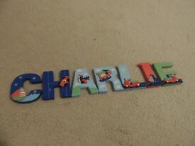 Wooden Door Sign 'Charlie'