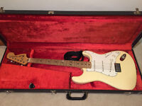 Fender Stratocaster 1973 Hardtail, Olympic White, original case etc, beautiful