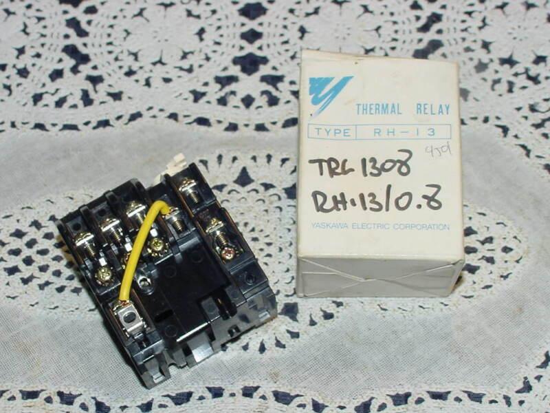 Yaskawa Type RH-13 Thermal Relay, RH-13/0.8, Range 0.55 to 1.1, NEW Open Box!