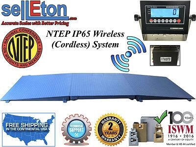 Ntep Floor Scale 48 X 48 4 X 4 Wireless Cordless 2 Ramp 5000 Lbs X 1 Lb