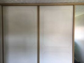 Sliding robe doors and shelves
