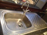 Kitchen sink, tap and worktop - SOLD subject to collection