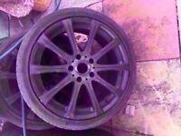 "Bmw M5 18"" Black Alloy wheel CAN POST"