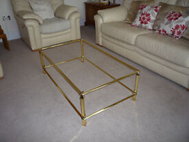 Glass top Coffee Table with Glass under-shelf