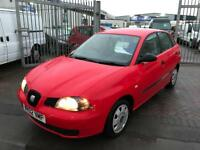 BARGAIN** 02 SEAT IBIZA 1.2 CHEAP RUNNER LOW TAX AND INSURANCE GREAT ON FUEL LOVELY DRIVE