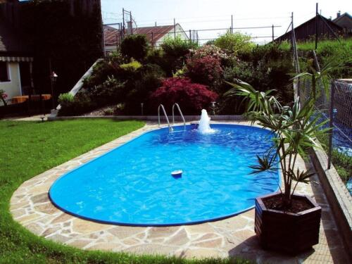 BAS.Stahlwand Pool Oval 490x300x120 cm Stahlwandbecken Basic in ...