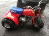 1985 Honda atc 70 trike, very good condition! Classic! Starts first pull, new tyres £895 Kilmarnock