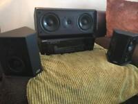 Sony Surround Sound amp/tuner with eltax bi polar surround sound speakers