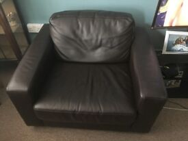 Pristine Leather Armchair, Quick Cheap Sale