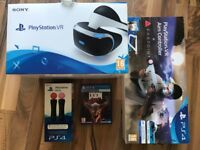 Playstation VR & Camera + 4 Games + Gun + 2 Motion Controllers ! Everything Boxed ! price stands !