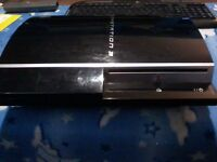 Ps3 80gb 'fat' style,piano black, spares or repair only, £5