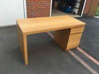 IKEA MALM Desk Oak Veneer