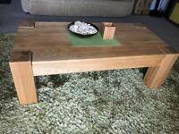 Coffee Table - 120 cm 60 cm 40 cm - Oak Furniture Natural World