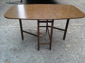 Dark Retro 1970's folding table in great condition