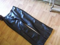 ladies very soft leather trousers