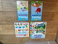 """Interactive book bundle 2 """"spot something"""" and 2 phonic book"""