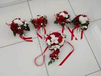 Wedding Flowers (red and white)