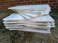 Large marble tiles (used)