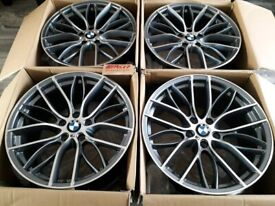 "* NEW 19"" INCH ALLOY WHEELS ALLOYS GREY 405M 405 M SPORT PERFORMANCE F30 4 5 3 SERIES"