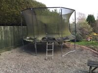 FREE TP Toys 12ft Trampoline,Genius Surroundsafe. Needs dismantling, collecting, requires a clean.