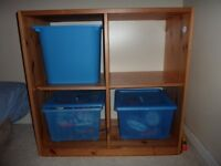 Kids cube storage with boxes