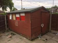 12 x 8 Ft garden shed like new on inside collection only