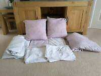2 x sets of Next King Size bed sets including bedspread and matching cushions