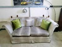 Laura Ashley Langham 2 seater sofa in steel grey velvet RRP £1600