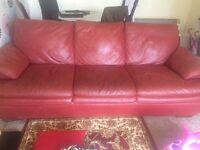 Natuzzi 3+3 seater leather sofa