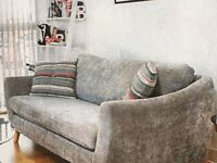 Two Jasper Two Seater Compact Sofas - GREY