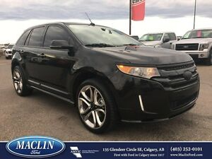 2014 Ford Edge Sport, Dual Roof, Leather, Nav, Backup Camera