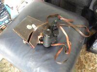 Pair of Leitz Wetzlar binoculars and case.