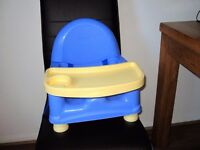 Safety 1st Easy Care Swing Tray Booster Seat Primary Blue/Cream