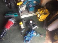 JOB LOT POWER TOOLS . 110v & 240v makita & more - all working