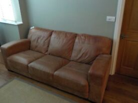 DFS Caesar 3 seater sofa, grand outback leather