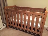 Oak Effect Cot & Mattress from Next - excellent condition.