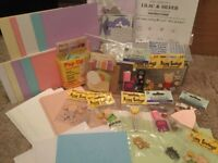 Collection of card making / scrapbooking bits