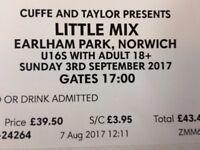 2 Little Mix tickets for sale. Earlham park, Norwich, 3rd September.