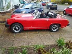 mg midget classic , convertible, 99% finished project, nice for this summer