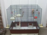 BIRD CAGE WITH POTS AND PERCHES £12