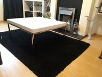 Ikea Klubbo white coffee table