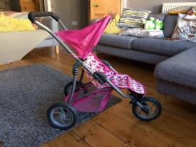 Mamas & Papas foldable toy pram pink
