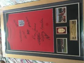 Signed 1966 England shirt