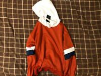 *New* Red with white and blue hoodie - Medium