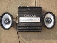 Kenwood Amp with 2 6x9 Kenwood speakers