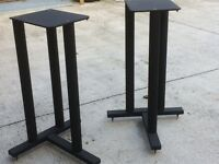 Black steel speaker stands