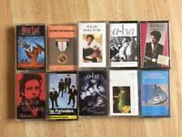 Job lot of Cassette Tapes- Albums- Dire Straits, Pretenders, The Clash, Aha, ELO, Meatloaf