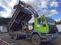 ERF 6 WHEEL TIPPER GRAB TRUCK WITH HFM CRANE AND ROTATING BUCKET OUT OF TEST ALL GOOD & WORKING