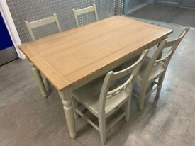 Neptune Suffolk kitchen Dining table & 4x chairs - laura Ashley John Lewis habitat loaf oka oak raft
