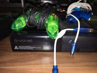Xbox 360 and 4 controls..great condition